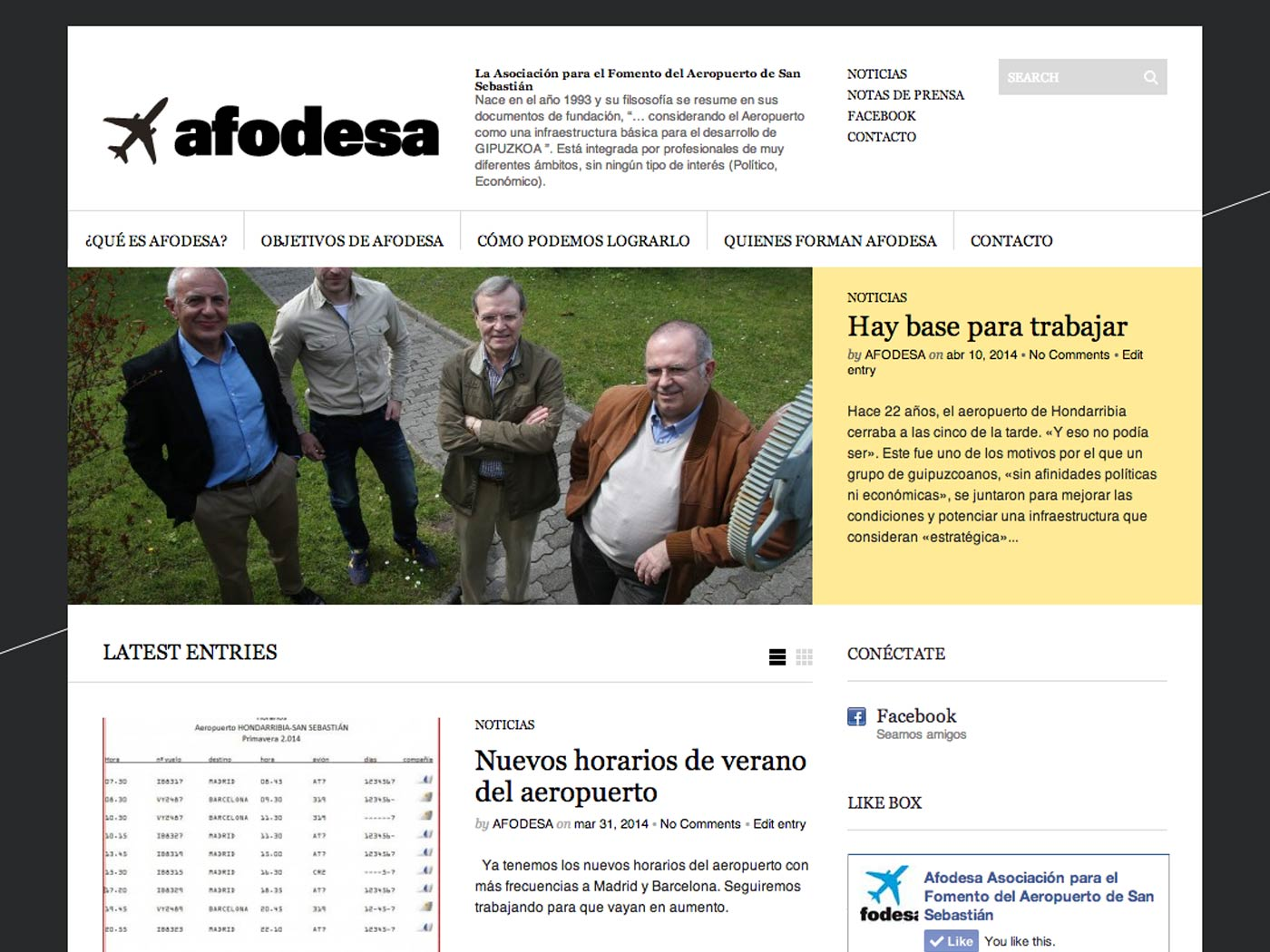 Web de AFODESA
